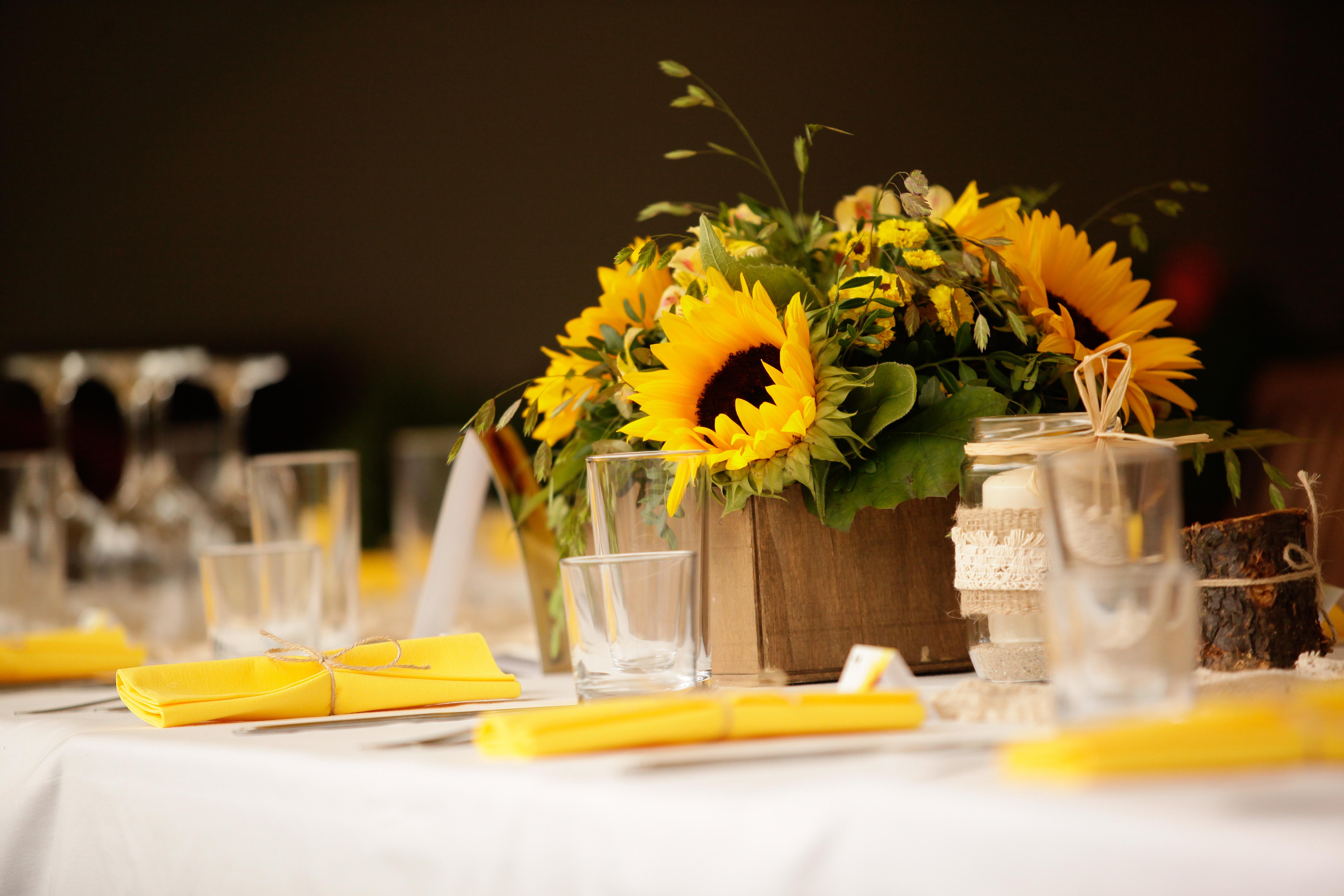 Цветя слънчогледи Сватба
