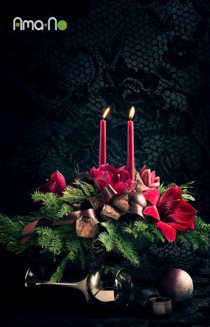 Аранжировка от цветя за маса